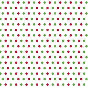Christmas Red Green White Polka Dotas Poka Dot