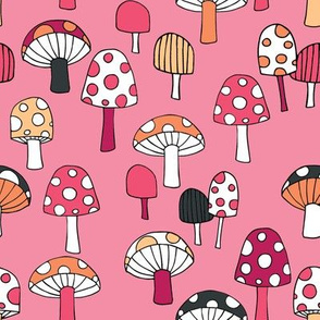 Toadstools__pinks__orange___dark_grey