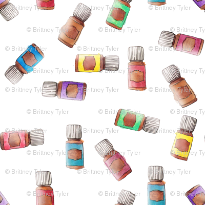 Essential Oils Scatter Fabric Astrobarndesign Spoonflower