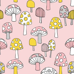 Toadstools__pink__yellow___grey