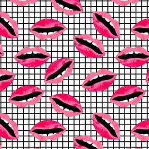 lipstick lips beauty makeup beauty valentines fabric