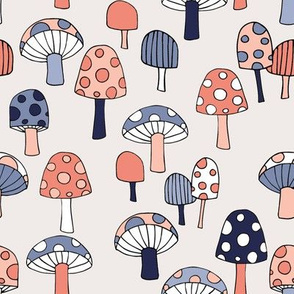 Toadstools__peach__blues___grey