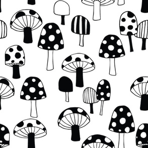 Toadstools__black___white