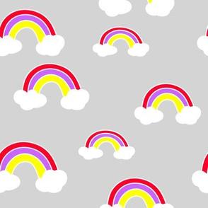 Rainbow on Grey