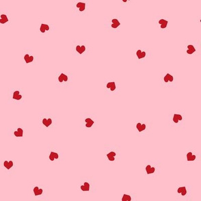 red and pink hearts fabric pink and red scattered hearts mini valentines day