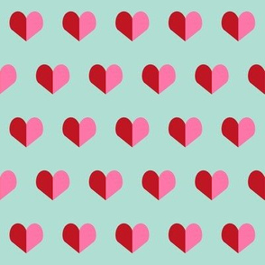 red and pink hearts fabric heart design pink and white valentines love design