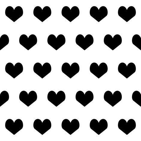 black and white hearts design valentines heart bw heart ...