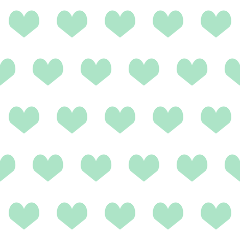 mint hearts fabric mint design mint and white fabric valentines heart design fabric by charlottewinter on Spoonflower - custom fabric