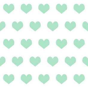 mint hearts fabric mint design mint and white fabric valentines heart design