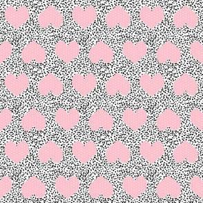 pink and white painted hearts pink valentines day hearts fabric