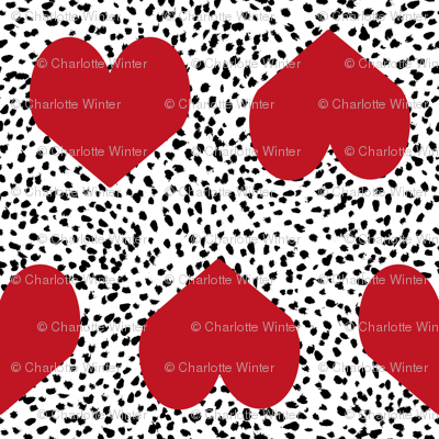 red valentines heart fabric painted heart valentines love fabric