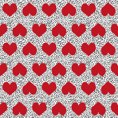 red valentines heart fabric painted heart valentines love fabric fabric by charlottewinter on Spoonflower - custom fabric