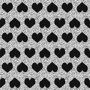 black and white hearts fabric heart fabric love design fabrics