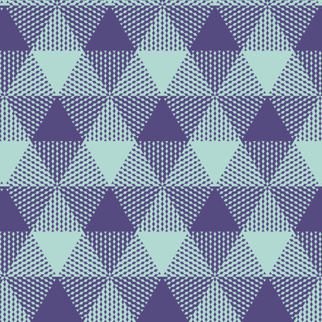 triangle gingham - purple and mint fabric by weavingmajor on Spoonflower - custom fabric