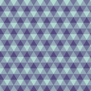 triangle gingham - purple and mint