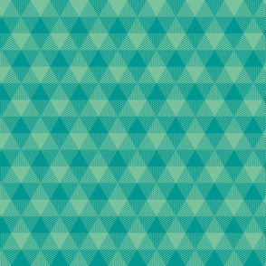 triangle gingham - surf aqua and green