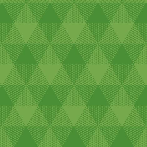 triangle gingham - grass green fabric by weavingmajor on Spoonflower - custom fabric