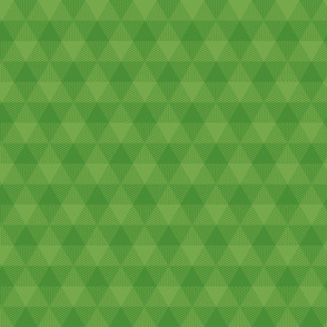 triangle gingham - grass green