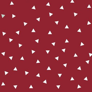 small triangles - ruby red tossed triangles scattered triangles geometric wine
