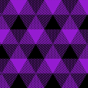 large triangle check - purple and black