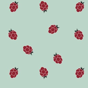 Raspberries - ruby red and mint forest fruit || by sunny afternoon