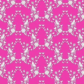 Bright Pink Floral Ivy