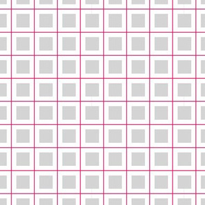 Grid - Grey and pink