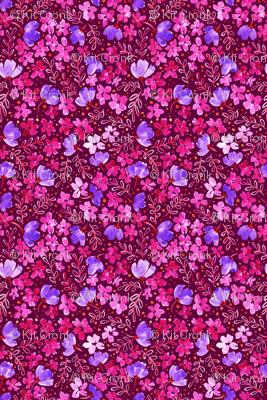 Love Blossoms Floral Pattern - Dark Pink