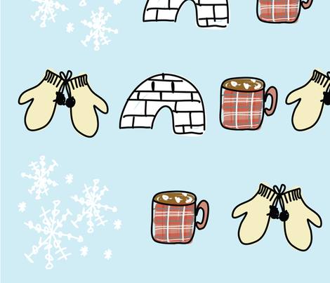 Snow_Day_Design-01 fabric by abigail_sierra on Spoonflower - custom fabric