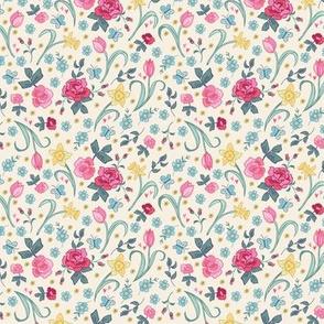 Spring Floral - cream