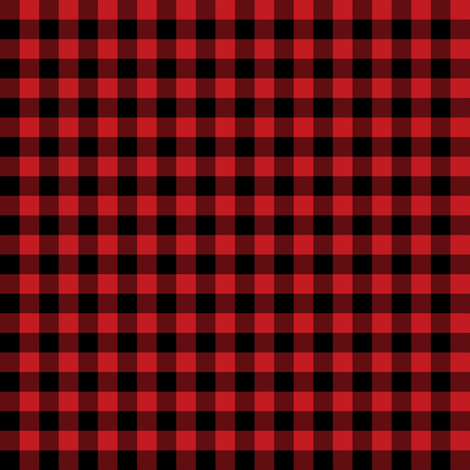 Red & Black Plaid fabric by shopcabin on Spoonflower - custom fabric