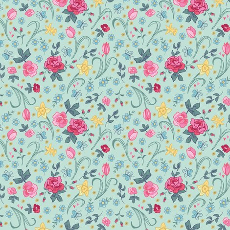 Reaster_floral_tile_on_aqua_shop_preview