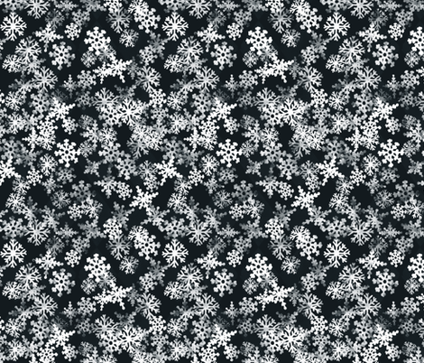 Snowflakes fabric by lburleighdesigns on Spoonflower - custom fabric