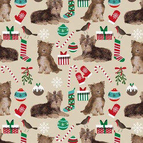 chocolate yorkie fabric christmas design chocolate yorkies design dogs fabric