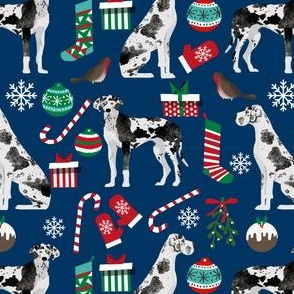 great dane christmas fabric great danes fabric christmas dogs fabric andrea lauren xmas