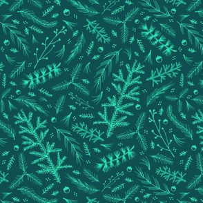 Forest Floor: Teal and Turquoise