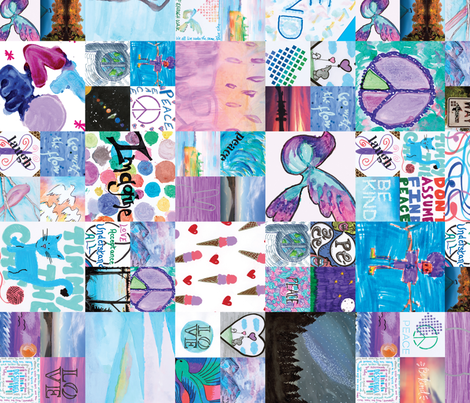 2016 Project Peace Paper - Blue fabric by project_peace_paper on Spoonflower - custom fabric