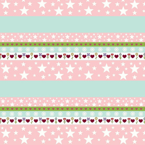 Holiday Star - pink mint white