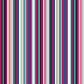 #2 Candy Stripe Burgundy Pink Teal _Miss Chiff Designs