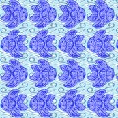 Swirly fish in the waves