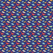 Dinosours Cute Happy Red Yellow Blue Orange Green