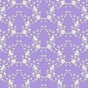 Bright Lilac Floral Ivy