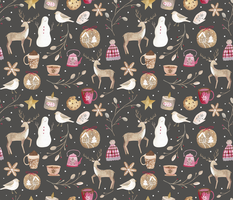 Cozy Snow  Day fabric by biancapozzi on Spoonflower - custom fabric