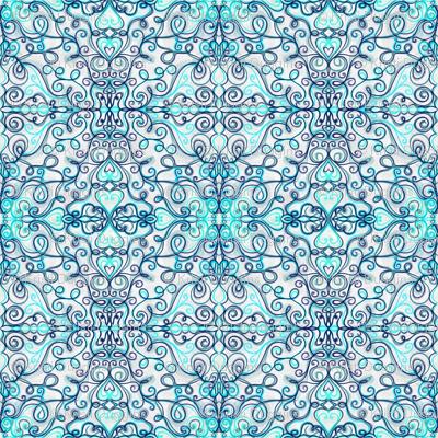 Project 182 |   | Blue Heart Filigree