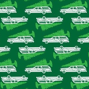 Griswold Family Christmas Station wagon with Tree GREEN