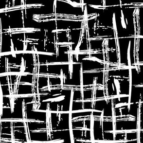 Black and White Brush Strokes Grid Deconstructed