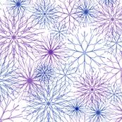 Snowflakes Blue-Purple