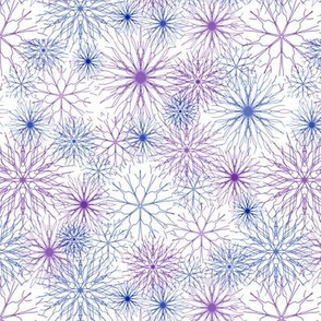 Snowflakes Blue-Purple