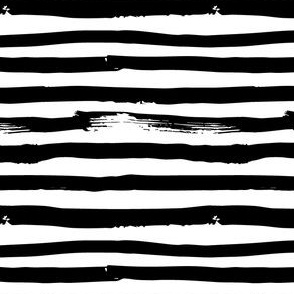Black and White Brush Stroke Painted Stripes Artistic Distressed