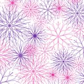Snowflakes Pink-Purple